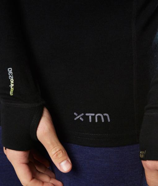 Pánské funkční merino triko černé ruka