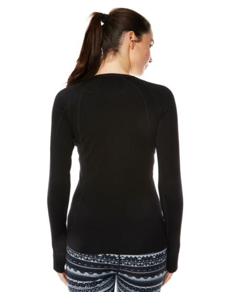 Dámské funkční merino triko černé záda