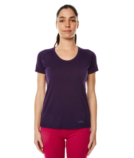 Womens Merino Wool Short Sleeve T-Shirt Blackberry