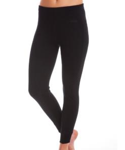 Womens Merino Wool Thermal Pants Black