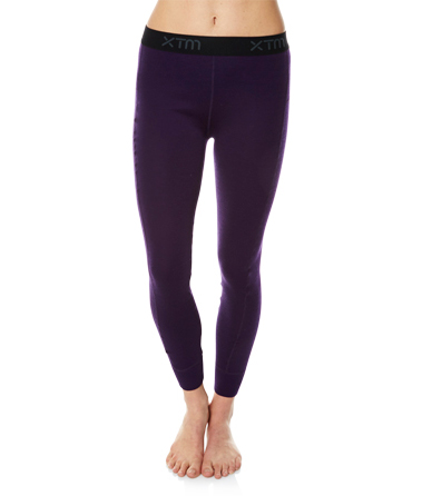 Womens Merino Wool Base Layer Pants Blackberry