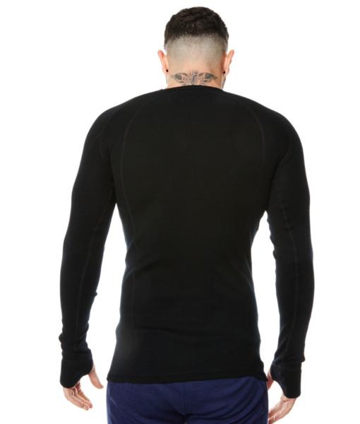 Pánské funkční merino triko černé záda