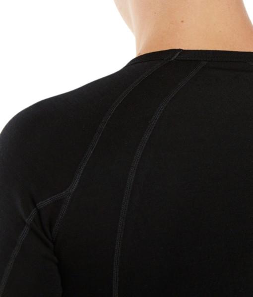 Pánské funkční merino triko černé krk