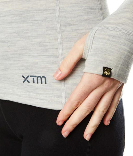 Dámské funkční merino triko šedé ruka