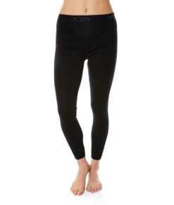 Womens Merino Wool Base Layer Pants Black
