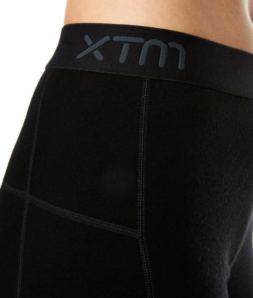 Dámské funkční merino 3/4 kalhoty černé detail