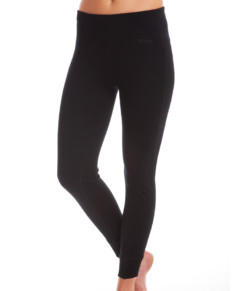 Womens Merino Wool Thermal Pants Black